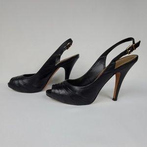 Antonio Melani Peep-Toe Sling-Back Stiletto Pumps